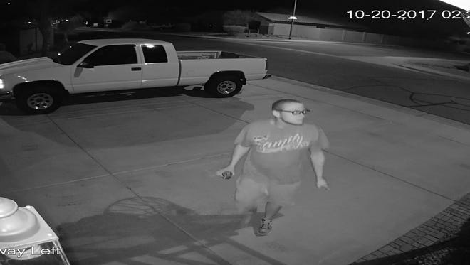 A suspect in two Peoria incidents.