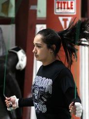 "Footwork begins by skipping rope for Marisol ""Dangerous"""