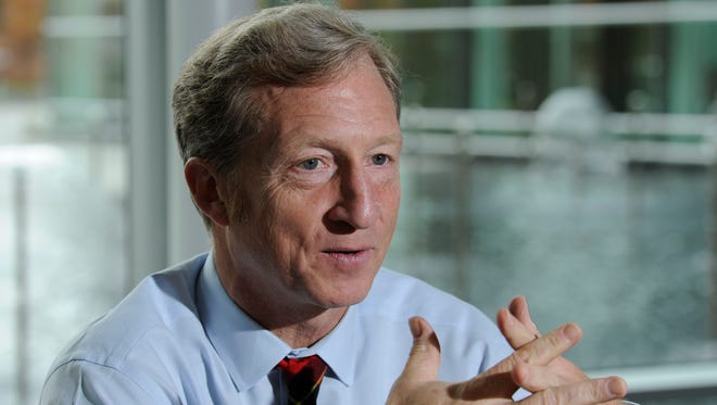 Billionaire climate-change activist Tom Steyer invested $8 million in last week's race for Virginia governor. He backed the eventual winner, Democrat Terry McAuliffe.