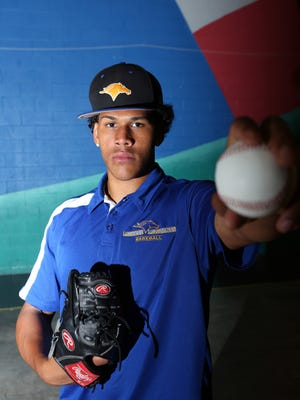 Monroe College baseball player Joel Urena, 17, who was just drafted by the Texas Rangers, is photographed at the Monroe Athletic Center June 14, 2017 in New Rochelle.