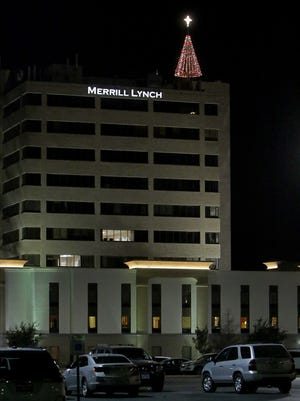 Hospice of Wichita Falls reached their fundraising goal of $200,000 Friday, Dec. 15, 2017, and lit the Christmas tree a top the Southwest building.
