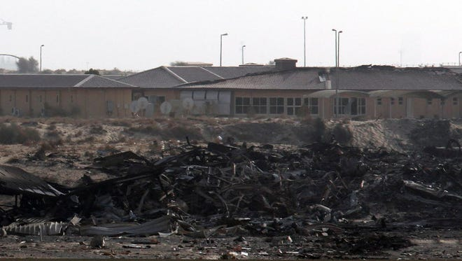 A general view shows the military compound where a 747-400 Boeing cargo plane operated by United Parcel Service Inc crashed Sept. 5, 2010.