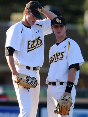 Former Southern Miss teammates Jake Drehoff, left, and Ashley Graeter are getting reacquainted this summer in the Class AA Eastern League.