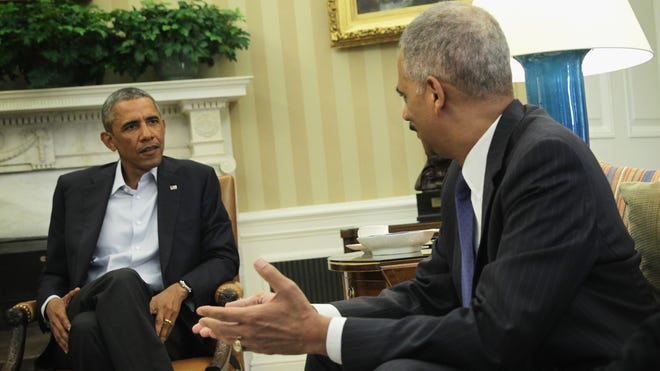 President Obama and Attorney General Eric Holder.