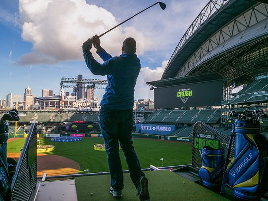 Topgolf Crush launched at Safeco Field in Seattle, home of the Seattle Mariners, this past February. (PRNewsfoto/Topgolf)