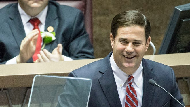 Gov. Doug Ducey delivers his second State of the State address on Monday.