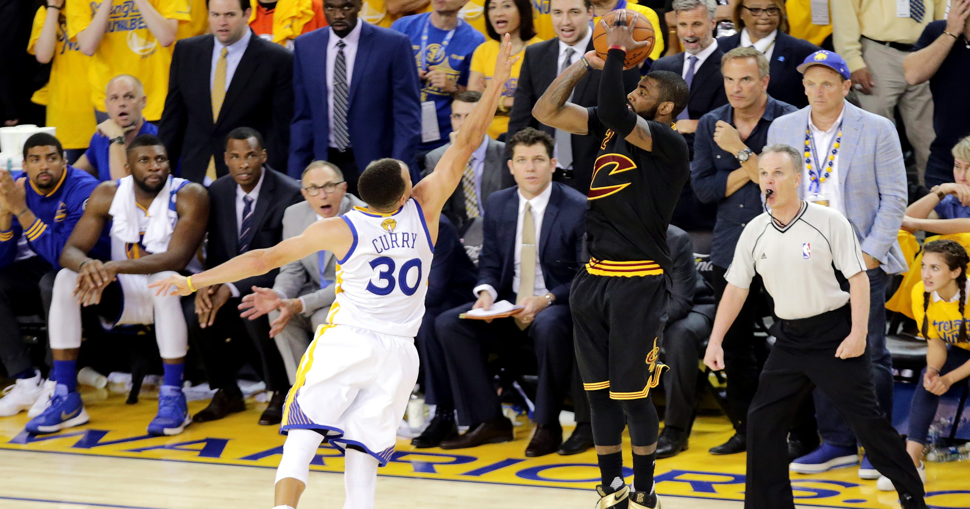 5fef62568e3 Kyrie Irving s shot sealed Cavaliers  championship over Warriors