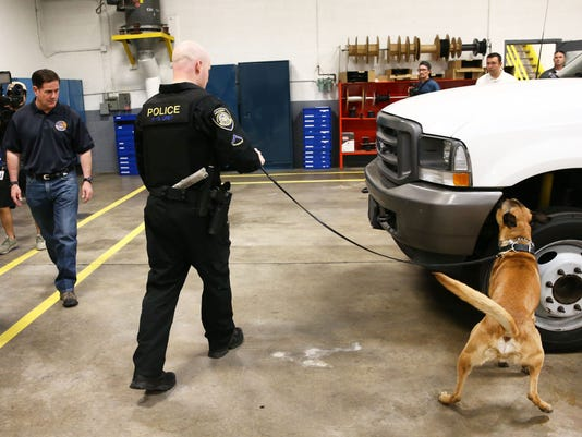 Enforcement and Compliance Division's first K-9 units