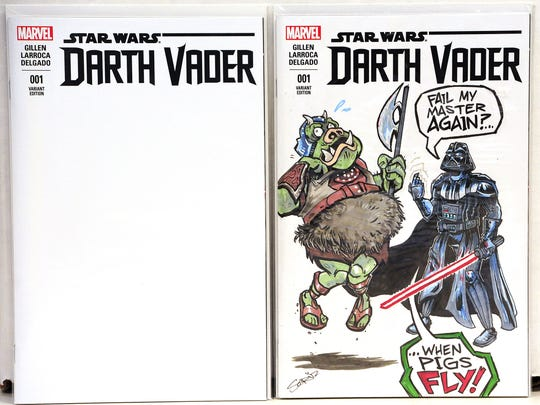 """Star Wars: Darth Vader"" cover by artist Shawn Cruz"