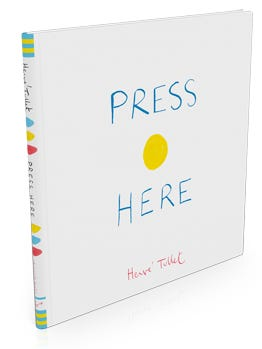 "New York Times bestselling book ""Press Here"" by Herve Tullet. provided photo"