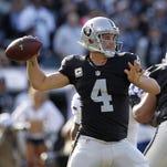Raiders quarterback Derek Carr.