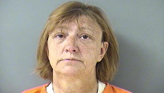 Lisa Marie Schurhammer shown in her July 2017 arrest.