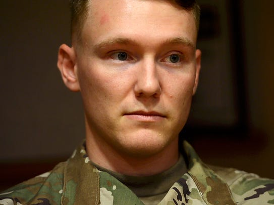 Vermont National Guard Sgt. Micah Paroline joined the