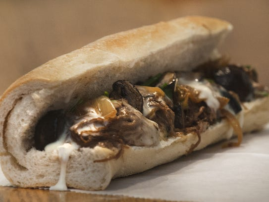 The Braised Beef sandwich is a glorious take on a cheesesteak