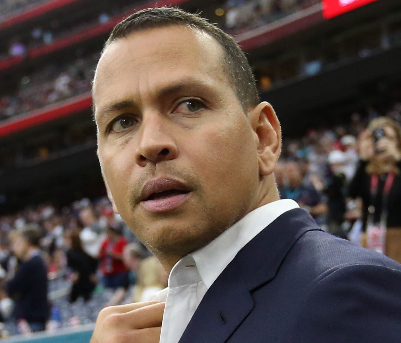 Former baseball player Alex Rodriguez.