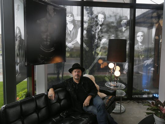 Danny Clinch talks about the images included in Transparent: A Danny Clinch Gallery at the Asbury Hotel in Asbury Park, NJ Friday, July 14, 2017.