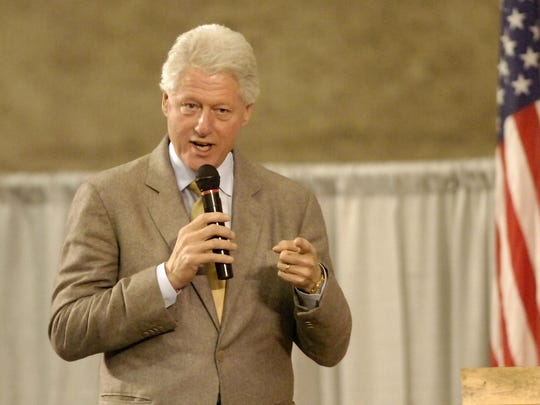 TRIBUNE PHOTO/RION SANDERS President Bill Clinton speaks