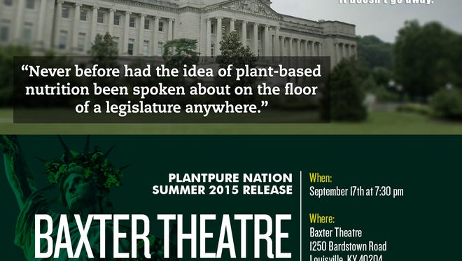"""A battle over the health benefits of vegan eats in Frankfort, Kentucky's state capital, is at the heart of """"PlantPure Nation,"""" the sequel to """"Forks Over Knives,"""" a documentary about plant-based nutrition and its ability to reverse heart disease, diabetes and other chronic disease."""