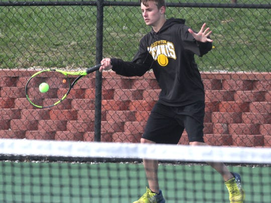 Sophomore Blake Webster pulls out a third set tiebreaker to seal Lexington's 5-0 win over archrival Ashland.