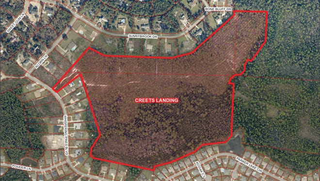 the Santa Rosa County Board of Commissioners approved revised plans for a 49-lot subdivision off Whispering Pines Boulevard.
