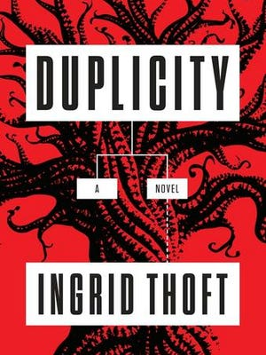 """This image provided by Penguin Random House shows the book cover of """"Duplicity"""" by Ingrid Thoft."""