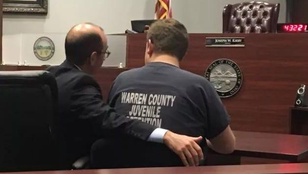 Warren County Judge Joseph Kirby's courtroom