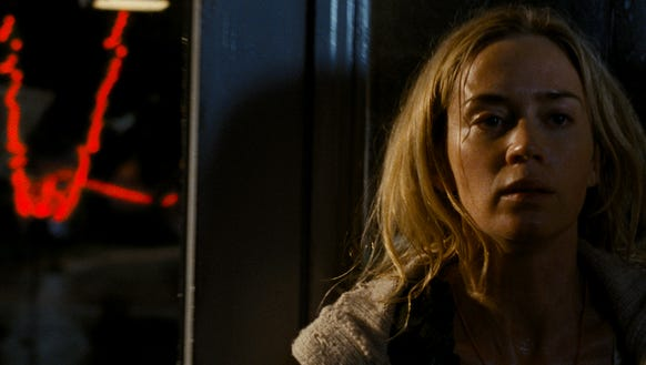 "Emily Blunt in a scene from ""A Quiet Place,"" which"