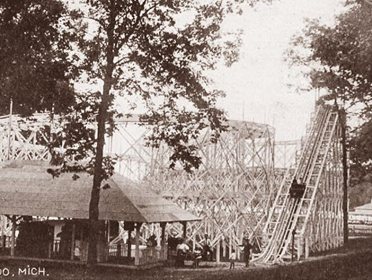 "The Dizzy Figure-8"" Roller Coaster, at Oakwood Park"