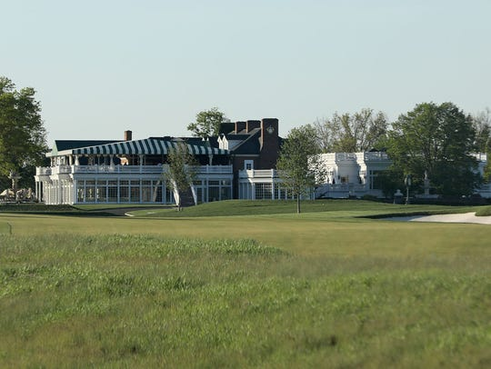 The clubhouse at Trump National. The house was previously
