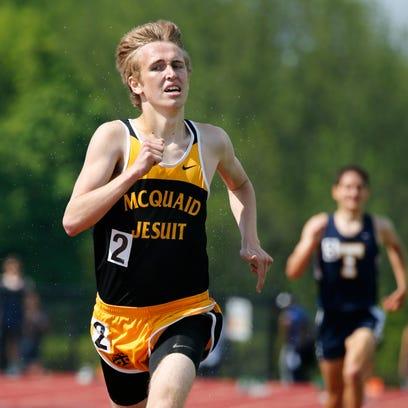 McQuaid's Donovan Glavin crossed the finish line in