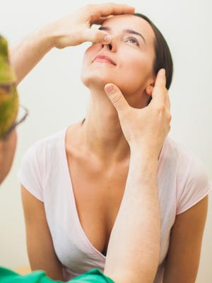 Nasal plastic surgery can correct a deviated nasal septum and open up the nasal passages.