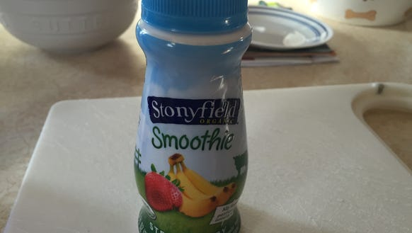 A good on the go item is Stonyfield's Smoothies. This