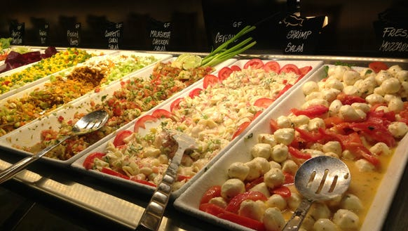 It's easy to make a meal on Rodizio Grill's salad bar,