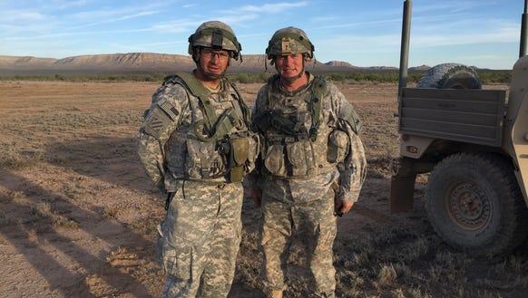 Lt. Col. Jim Riely, left, and Lt. Col. Ken Braeger