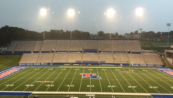 Louisiana Tech is currently in a weather delay for