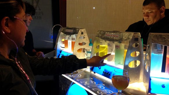 XL Public House patrons visit the oxygen bar last month