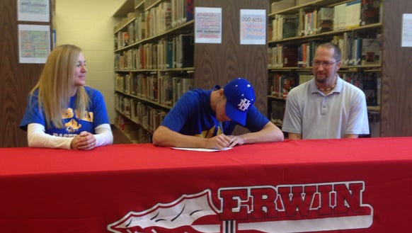 Erwin senior Cameron Howell has signed to play college