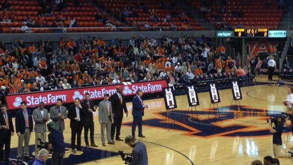 Auburn honored its four seniors (T.J. Dunans, LaRon