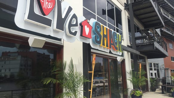 The Love Shack, 106 W. Seeboth St., goes lighter and