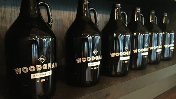 Growlers at Woodgrain Brewing Co.