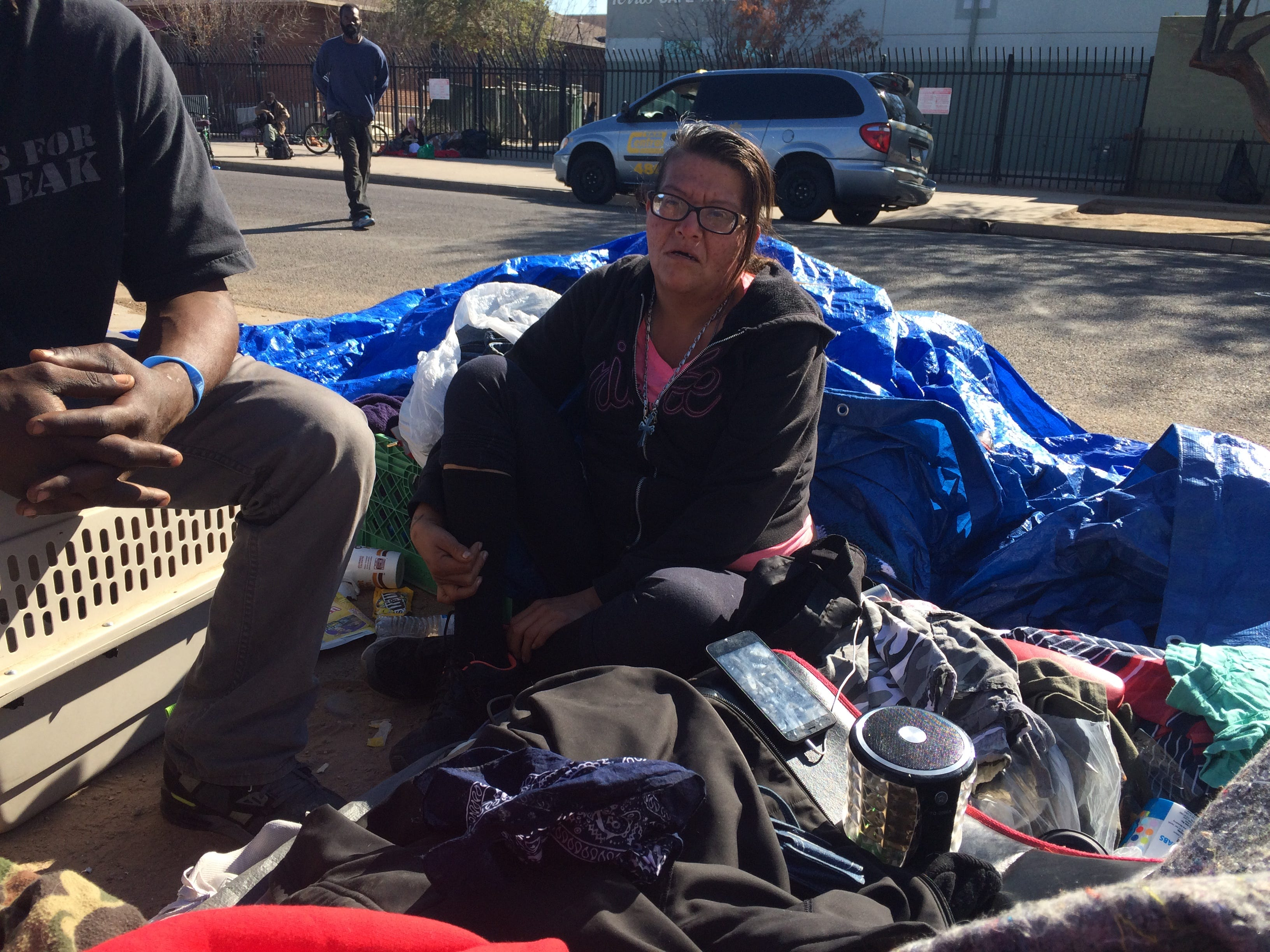 & Roberts: Homeless camp in tents while shelter must sit half empty