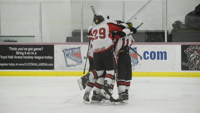 Lakeland hockey rallied for a win over Park Regional.
