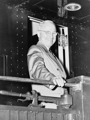 Contrary to this picture, President Harry Truman wasn't all smiles on Feb. 22, 1946, when the White House was besieged by 2,000 chick hatchlings that arrived charge on delivery from an angry Richmond poultry farmer.