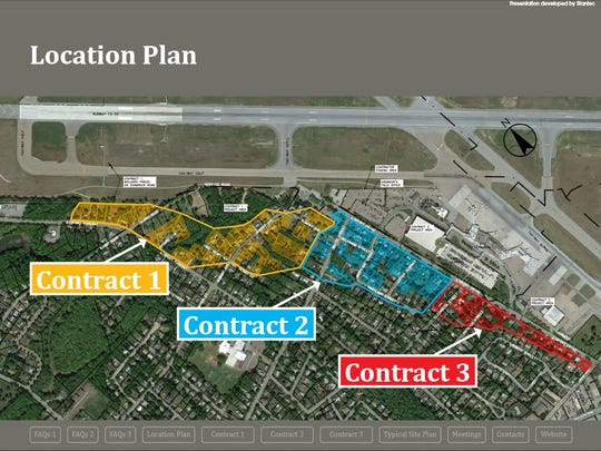 The airport demolition will be divided into three contracts.