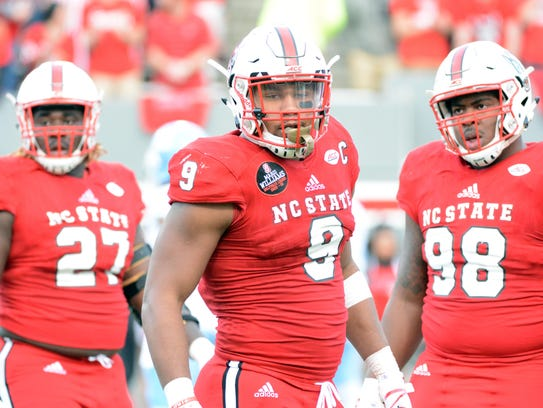 North Carolina State defensive end Bradley Chubb is a possible target for the New York Giants at No. 2.