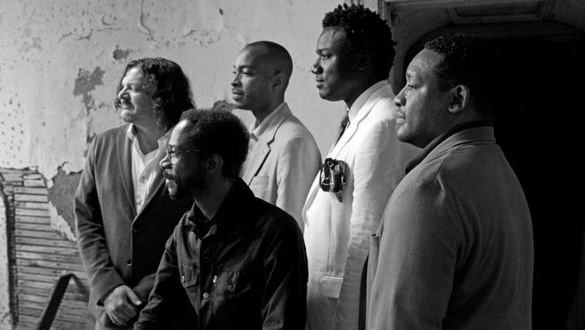 Brian Blade and the Fellowship Band will perform at 7 p.m. on Dec. 19 at Shreveport House Concert at the Louisiana State Exhibit Museum. Members: (left to right) Jon Cowherd, Brian Blade, Melvin Butler, Myron Walden and Chris Thomas