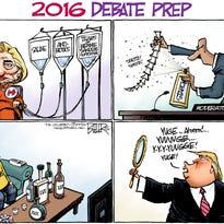 Today's cartoon: Presidential debate prep