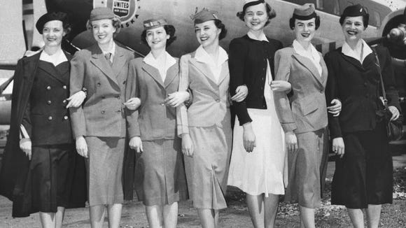 United Airlines stewardesses