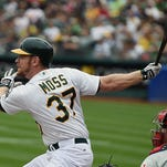 The Athletics' Brandon Moss