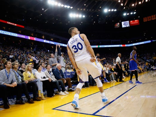 1. Stephen Curry extended his three-point streak to